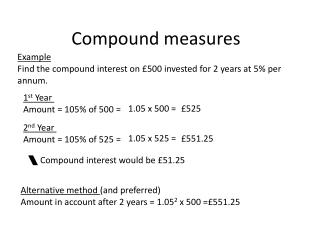 Compound Measures