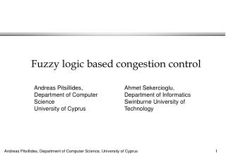 Fuzzy logic based congestion control