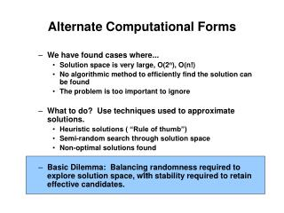 Alternate Computational Forms