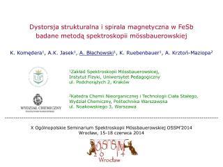 Dystorsja strukturalna i spirala magnetyczna w FeSb badane metodą spektroskopii mössbauerowskiej