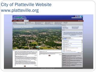 City of Platteville Website  platteville