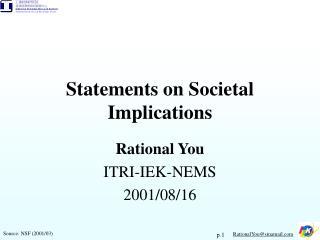 Statements on Societal Implications