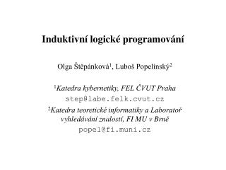 Induktivní logické programování