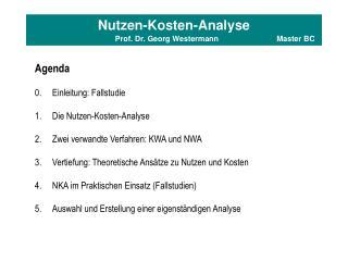 Nutzen-Kosten-Analyse                                   Prof. Dr. Georg Westermann  Master BC