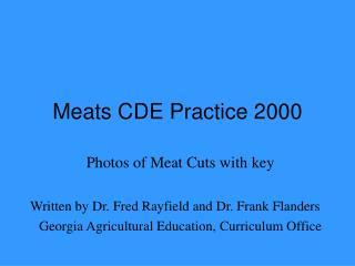 Meats CDE Practice 2000