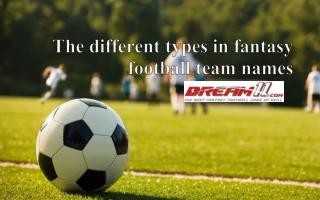 The Different Types in Fantasy Football Team Names