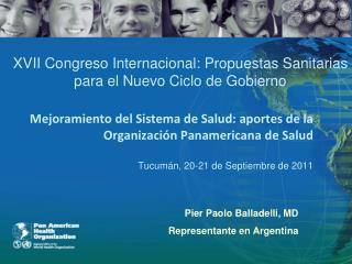 Pier  Paolo Balladelli, MD Representante en Argentina