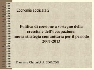 Economia applicata 2