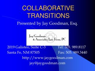 COLLABORATIVE TRANSITIONS