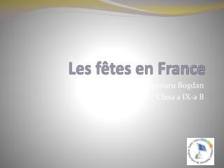 Les f � tes en France