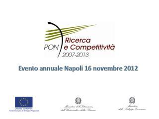 """Il Programma Operativo Nazionale """" Ricerca  e  Competitività""""  2007-2013"""