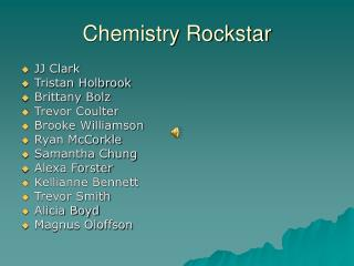 Chemistry Rockstar
