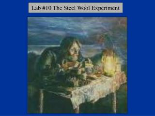 Lab #10 The Steel Wool Experiment