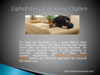 Upholstery Cleaning Ogden