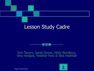 Lesson Study Cadre