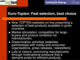 Euro-Topten: Fast selection, best choice