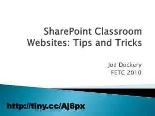SharePoint Classroom Websites: Tips and Tricks