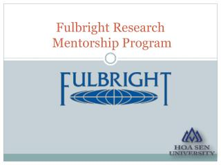 Fulbright Research  Mentorship Program