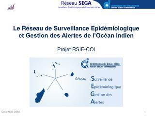 Le Réseau de Surveillance Epidémiologique et Gestion des Alertes de l'Océan Indien Projet RSIE-COI