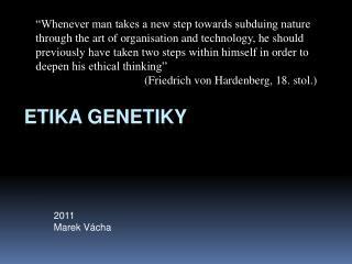 Etika genetiky
