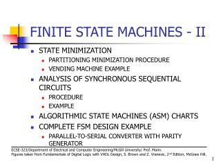 FINITE STATE MACHINES - II