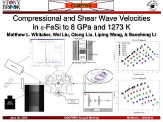 Compressional and Shear Wave Velocities      in   -FeSi to 8 GPa and 1273 K
