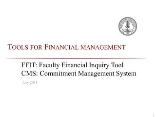 Tools for Financial management