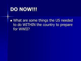 DO NOW!!!