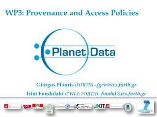 WP3: Provenance and Access Policies