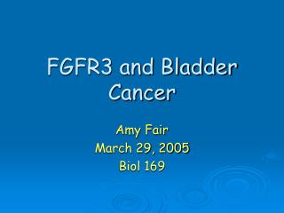 FGFR3 and Bladder Cancer