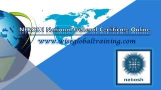 NEBOSH National General Certificate Online