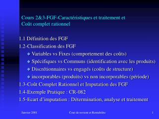 Cours 2&3-FGF-Caractéristiques et traitement et Coût complet rationnel