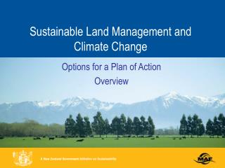 Sustainable Land Management and Climate Change