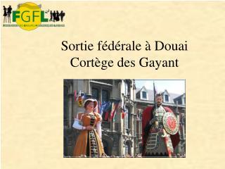 Sortie fédérale à Douai Cortège des Gayant