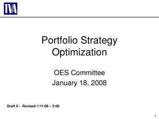 Portfolio Strategy Optimization