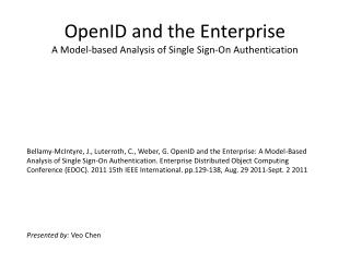 OpenID and the Enterprise A Model-based Analysis of Single Sign-On Authentication