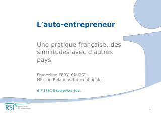 L'auto-entrepreneur