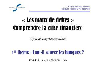 UFR des Sciences sociales,  Pratiques Sociales Développement