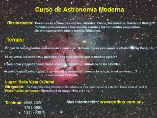 Curso de Astronomía Moderna