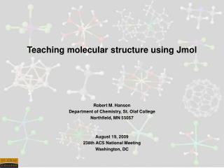 Teaching molecular structure using Jmol