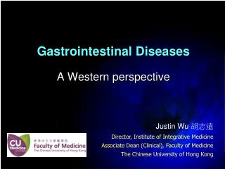 Gastrointestinal Diseases A Western perspective