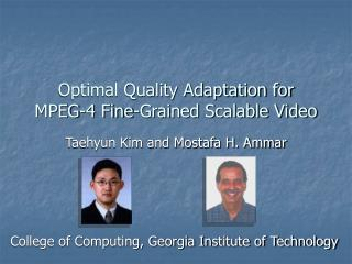 Optimal Quality Adaptation for MPEG-4 Fine-Grained Scalable Video