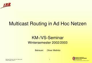 Multicast Routing in Ad Hoc Netzen