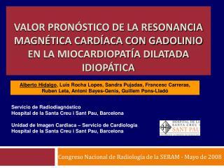 Congreso Nacional de Radiología de la SERAM - Mayo de 2008