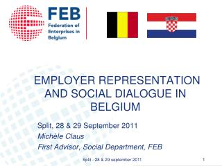 EMPLOYER REPRESENTATION AND SOCIAL DIALOGUE IN BELGIUM