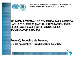 Programa de las Naciones Unidas para el Medio Ambiente