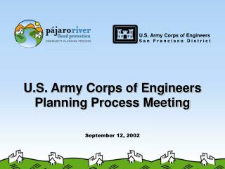 U.S. Army Corps of Engineers Planning Process Meeting