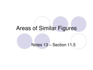 Areas  of  Similar Figures