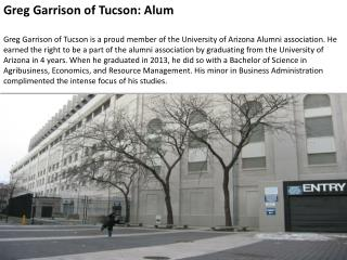 Greg Garrison of Tucson- Alum