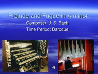 Prelude and Fugue in A minor